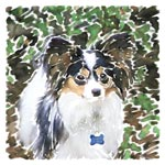 Didi in the Yard, in Watercolor